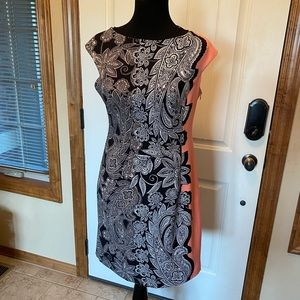 NEW London Times Paisley floral two-tone dress